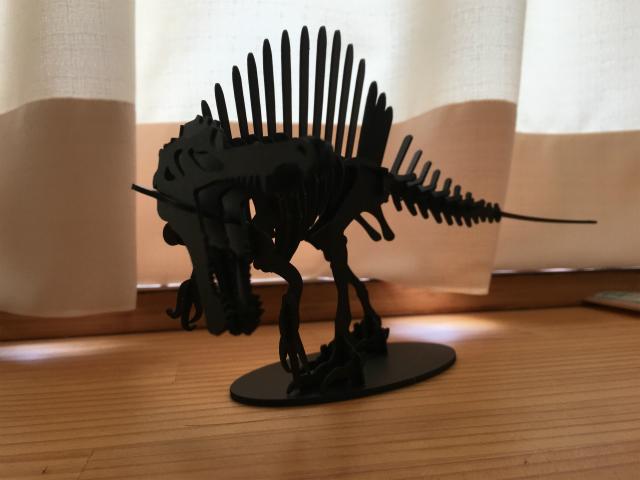 3Dペーパーパズルスピノサウルス<Lサイズ>03