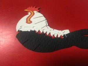 3Dペーパーパズル 尾長鶏