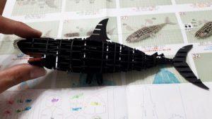 3Dペーパーパズルホオジロザメ013