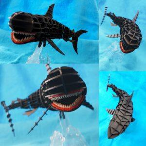 3Dペーパーパズルホオジロザメ018