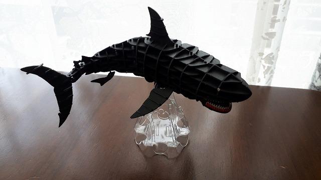 3Dペーパーパズルホオジロザメ017