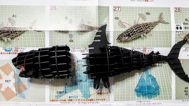 3Dペーパーパズルホオジロザメ012